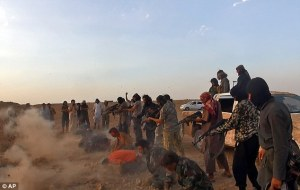 ISIS releases a horrific video of a mass execution of over 250 Syrian soldiers today. Photo courtesy: AP