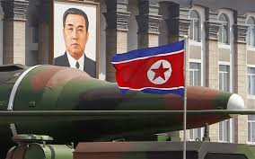 North Korean missiles on display during their May Day parade, 2015.