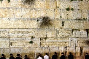 Evening prayers at the Wailing Wall in Jerusalem. Credit: Surreal Israel