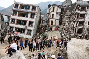 On May 12, 2009, a massive earthquake (8.0) struck southwest China, killing nearly 90,000 and leaving five million homeless in Beichuan, Sichuan Province. (Credit: Ng Han Guan/AP)
