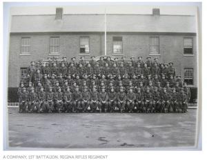 The Regina Rifles regiment before deployment. My Uncle Clayton was one of them. Credit: Regina Rifles