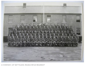 The Regina Rifles regiment before deployment. My Uncle Clayton was one of them. Credit: Regina Rifles