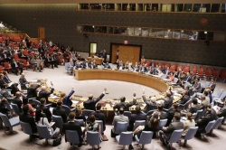 The Security Council unanimously adopts resolution establishing a monitoring system for Iran's nuclear programme. UN Photo/Devra Berkowitz