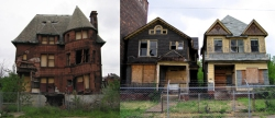 Abandoned houses in Detroit.  Credit:  Jesda.com