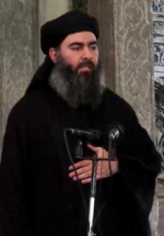 This undated photo of ISIS leader Abu Bakr al-Baghdadi, released by the terrorist group