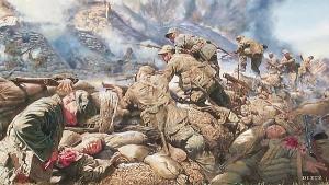 Korean War Airborne Ranger painting