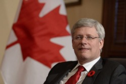 Prime Minister Stephen Harper in Ottawa, after calling the election last Sunday. (Credit: The Canadian Press)