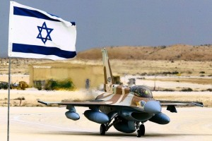 Israeli F-16i fighter jet, which could carry a nuclear missile as a deterrent, should Arab League forces invade Israel again