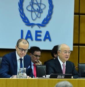 IAEA Director General Yukiya Amano addressing the December meeting of the Board of Governors. (Credit: D. Calma/IAEA)