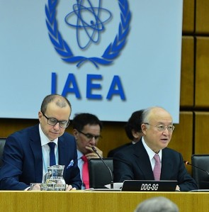IAEA Director General Yukiya Amano addressing the December meeting of the Board of Governors. (Credit: D. Calma/IAEA)