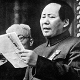 Chaiman Mao announces Community China's birth in Tianamen Square in 1949