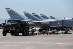 Russian military jets are seen at Hmeymim air base in Syria, June 18, 2016.  (Credit: REUTERS/Vadim Savitsky/Russian Defense Ministry via Reuters)