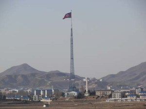 The tallest flagpole in the world in the North Korean town of Kijong-Dong