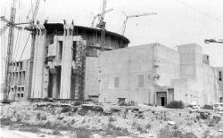 Construction of the first Iranian reactor, the Bushehr Nuclear Power Plant, in the 1970s. (Public Domain)