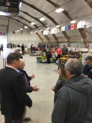 Rona Ambrose meets local officials in the area at one of the many shelters for evacuees. Credit: Rona Ambrose Facebook page)