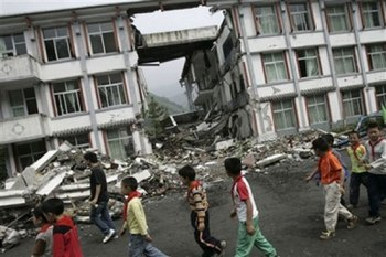 When a major earthquake hit Dujiangyan City, about 900 students and teachers were buried when its school building collapsed, and more than 240 were confirmed dead on May 26, 2008.