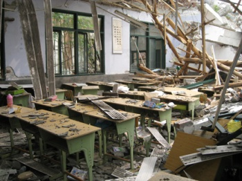 On the afternoon of Monday, May 12, 2008, a massive earthquake, measuring 7.9 on the Richter Scale, rocked China. The epicenter was Wenchuan County, Sichuan, northwest of Chengdu. Of 500 elementary school students here, 241 were killed.