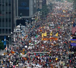 Hundreds of thousands participate in the NYC Pride March in 2014. (Credit: Occupy Wall Street)
