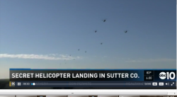 Many military helicopters over Sutter County, CA (Credit: ABC10)