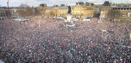 January 2016 Unity Rally in Paris, attended by more than 1.5 million people.