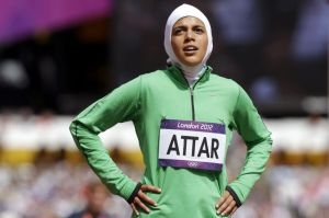 Attar, a female runner from Saudi Arabia, was one of only 4 women allowed to compete by the Kingdom in the Rio Olympics.