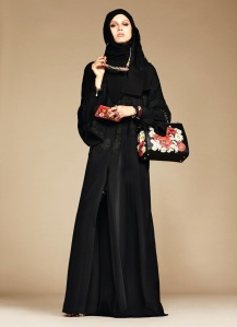 Famed designers Dolce & Gabbana even have a abaya and hijab collection. We kid you not (Credit: Style.com/Arabia)