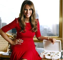 Melania Trump is an entrepreneur in her own right, having launched a line of jewelry and watches on QVC 5 years ago.