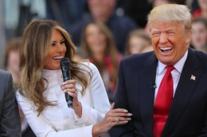 Donald and Melanie burst out laughing as she tells Today Show hosts on April 21, 2016 hosts that she REALLY wants him to stop Tweeting☺