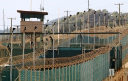 The exterior of Camp Delta is seen at the U.S. Naval Base at Guantanamo Bay (Credit: PBS)