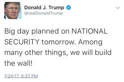 Trump wall tweet