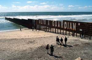 The farthest-West section of the US-Mexican border Wall, between Tijuana and San ysidro, CA - 2010. alive and well already - since 1994.